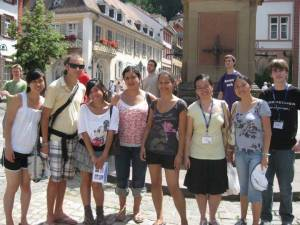 Nichole and the group in Heidelberg
